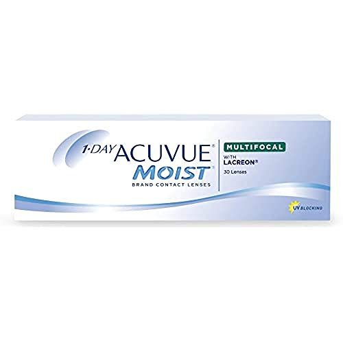 Acuvue 1-Day Moist Multifocal Tageslinsen weich, 30 Stück / BC 8.4 mm / DIA 14.3 / -0.25 Dioptrien / ADD HIGH