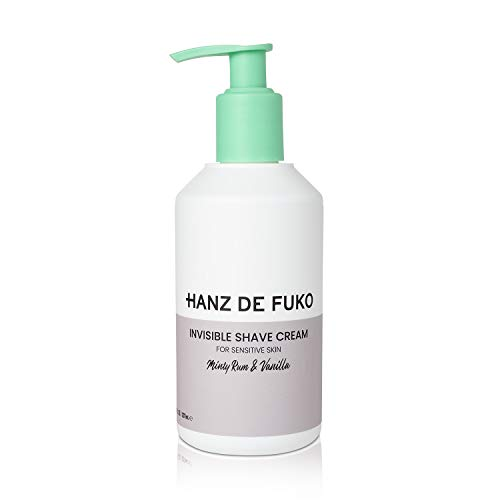 Hanz de Fuko Invisible Shave Cream: Premium Shaving Cream for Sensitive Skin (8oz) Sulfate and Paraben Free