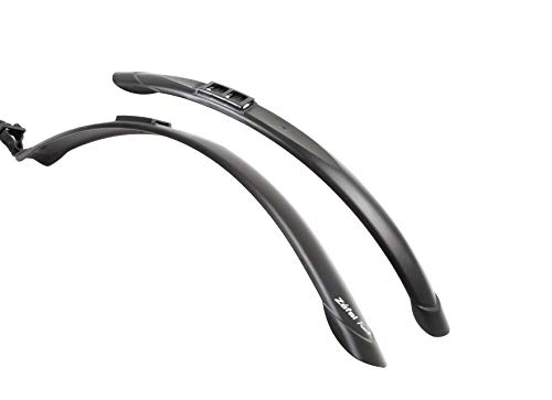 Zefal Unisex– Erwachsene Steckschützer Set Trail Steckblechset, schwarz, 28
