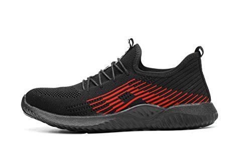 Ali-tone Unisex S6 Arbeitsschuhe Stahlkappe Sicherheitsschuhe Atmungsaktiv Leicht Sportlich Trekking Wanderhalbschuhe Mesh Schutzschuhe Damen Herren Hiking Schuhe