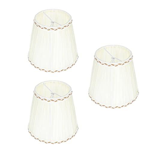 SOLUSTRE 3 Piezas de Lámpara Moderna Pantalla de Tela de Lino Pantalla de La Lámpara de Mesa Cubierta de La Cáscara Clip en El Juego de Bombilla para Lámpara de Pared Lámpara de Pie