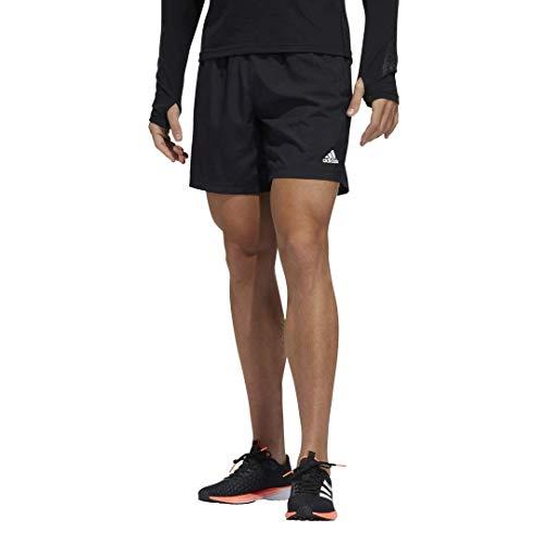 adidas Run It Short PB 3 Rayas para Hombre, Run It Short Personal Best 3 Rayas, Hombre, Color Negro, tamaño Large 7'