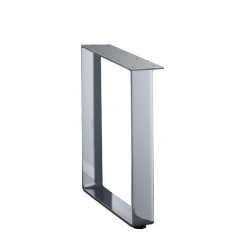 TopMotion KUFE für Ansatztisch aus stabilem, verchromten Stahl / Tischuntergestell / Tischunterbau / Tischfuß / Tischbein