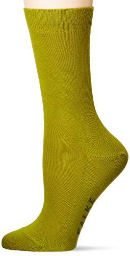 FALKE Damen Family W SO Socken, Blickdicht, grün (greenery 7168), 35-38 (UK 2.5-5 Ι US 5-7.5)