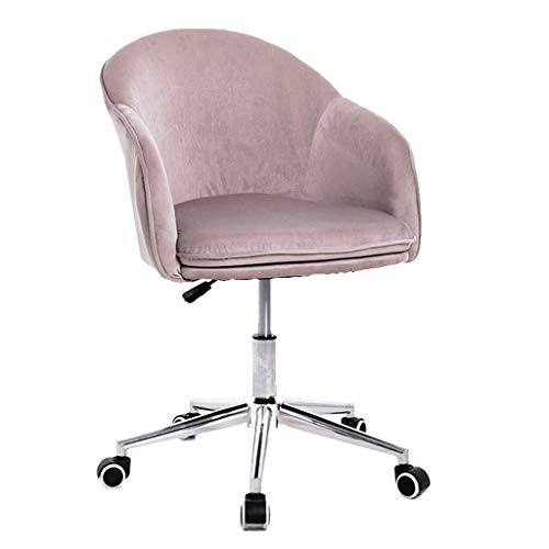 ZHAO XIN Best Office Flannel Tub Chair, Casual Home Office Chair, Ergonomic Cushion, 10cm Height Adjustment,180Kg Load-Bearing,with Pillow (Color : Light Gray)