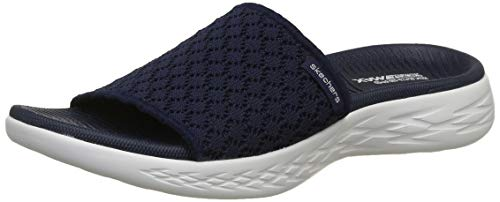 Skechers Damen On-The-go 600-Stellar Sandalen, Blau (Navy White NVW), 38 EU