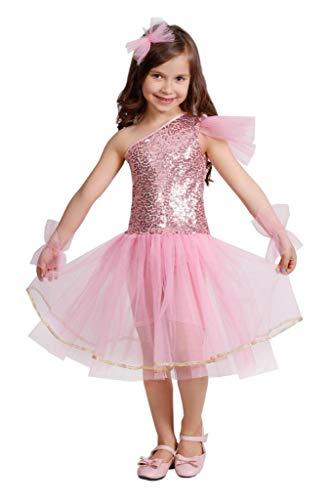 Matissa Niños Niñas Leotardo Ballet Vestido Baile Tutú Vestido Gimnástico Leotardo Falda (Bebé rosa, X Small)