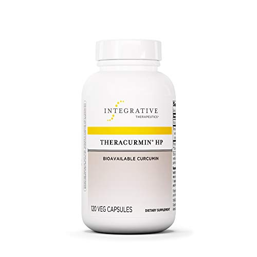 Integrative Therapeutics - Theracurmin HP - Turmeric, Curcumin Supplement - 27x More Bioavailable - High Absorption Turmeric - Relief of Minor Pain Due to Occasional Overuse - Vegan - 120 Capsules