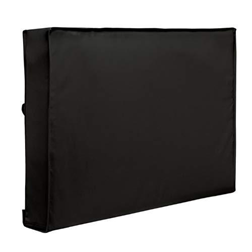 Funda de TV para exteriores de 36 a 38 pulgadas con cubierta inferior impermeable y material a prueba de polvo con paño de microfibra gratis para proteger tu TV ahora (negro)