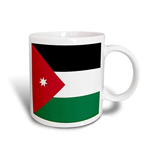 485 Kaffeetassen, Männer Bubble Tea Becher Anti-Rutsch Teetasse Mutter Kaffeebecher,Flagge Von Jordanien Tasse 330Ml Schwarz