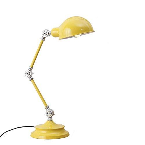 nakw88 Lámpara de Mesa lámpara Decorativa Individual lámpara de Mesa LED habitación de los ni?os Dormitorio Aprendizaje Moderno Ojo estación de inserción de Mano de Obra (17 * 60 cm)