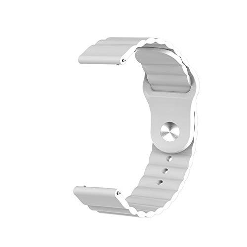 ZAALFC Correa de silicona de 20 mm para Samsung Galaxy Watch Active 2 para Huawei Watch GT 2 para Ehre Magic Watch 2 Amazfit BIP GTS GTR Gear Sport Band (color azul marino, ancho de la correa: 20 mm)
