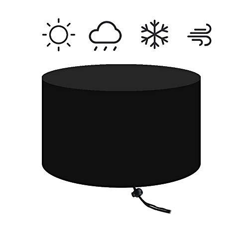 MMUY-1 Bâche de brasero en tissu Oxford 420D imperméable et protection contre le vent et le soleil, convient pour tous les meubles ronds, Noir , 50 inches
