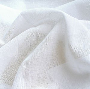 Blanco MATERIAL de muselina 100% algodón 122 cm, ancho de muselina cortina de gasa tela, para cortinas, PURE gamuza de algodón, tela de muselina, fabricado U.K, MATERIAL de muselina blanca de 100% tejido de muselina