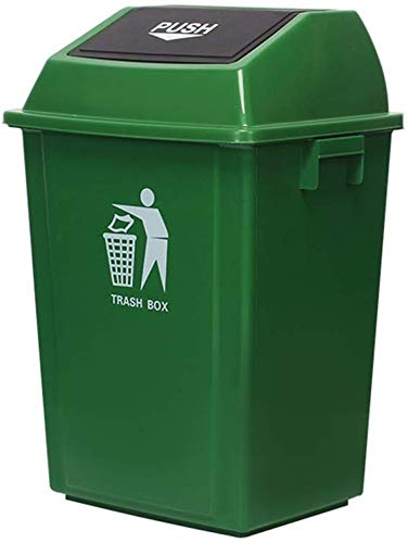 WYJW Plastic vuilnisbak, vuilnisbak voor buiten vuilnisbak voor buiten 60-100L (kleur: groen, maat: 100L)