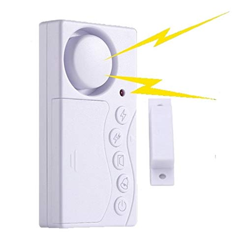 Umiitto Door Window Security Alarm Sensor 108dB Loud 4 Modes Easy Operation Wireless Time Delay Alert Magnetic Triggered Door Open Chime for DIY Home Safety Protecting with AAA Batteries (1 Set)