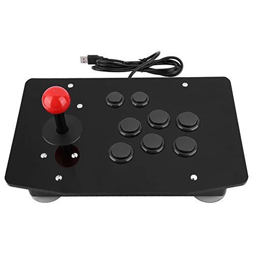 Bewinner PC Arcade Controller, Arcade Rocker Game Joystick Controlador de la manija del Juego de 8 Botones con ventosas Grandes de 50 mm de Tipo Fijo, Botones Tipo Tarjeta 3D Reproducción clásica