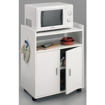 HOGAR24 Mueble Armario Auxiliar de Cocina para microondas Color Blanco