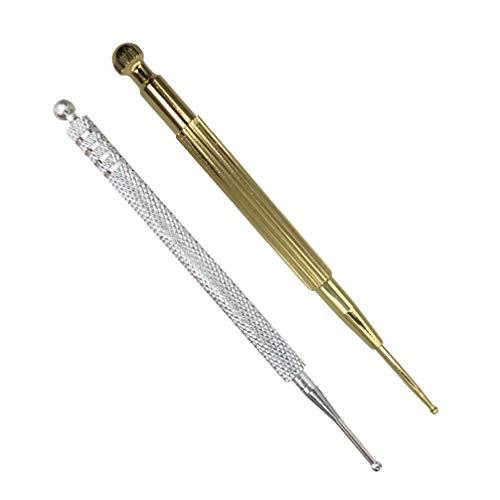 Healifty Akupunkturstift Edelstahl Akupressurstift Narbenstick Akupunktur-Stab Akupunktur Massage Stift Massagewerkzeug für Persönliche Gesundheitspflege 2 Stück