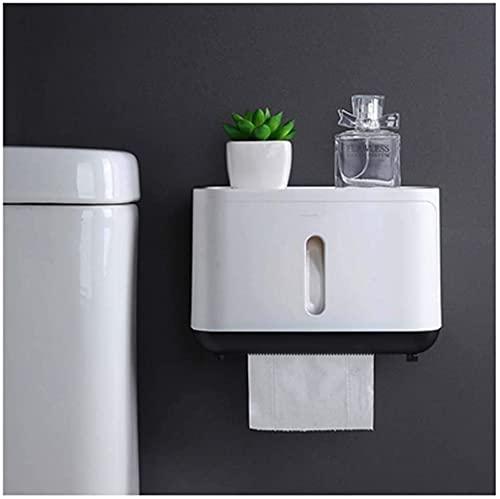 Contenedores de almacenamiento de papel higiénico Papel higiénico Soporte de montaje en pared - Dispensador de tejido para baño y cocina con almacenamiento de cuadrícula detop - Función Toallitas de i