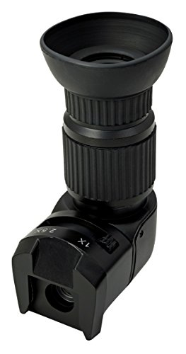 Viewfinder Right Angle Viewfinder with 1x - 2.5X Magnification for Nikon Canon Pentax Sony Minolta Samsung Fuji Olympus and Other DSLR and SLR Cameras