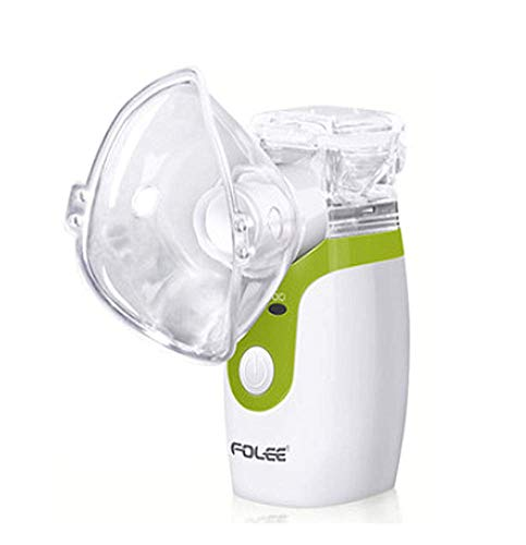 TYP Mall Nebulizador Portátil Inhalador Eléctrico Silencioso Cable USB Recargable para Adultos Y Niños Ayuda A Aliviar Los Síntomas del Resfriado Tos Y Laringitis,Verde