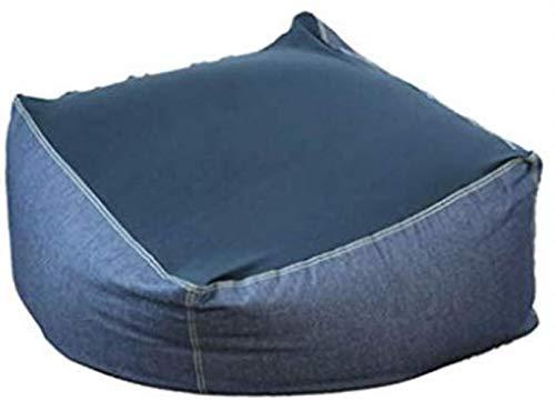 LHY- Canapé Bean Bag Chair Lazy Sofa Cute Girl Individuel Chaise Living Coton PPE Bean Bag Chambre Creative Tatami Tissu Balcon Siège Doux (Color : Denim)