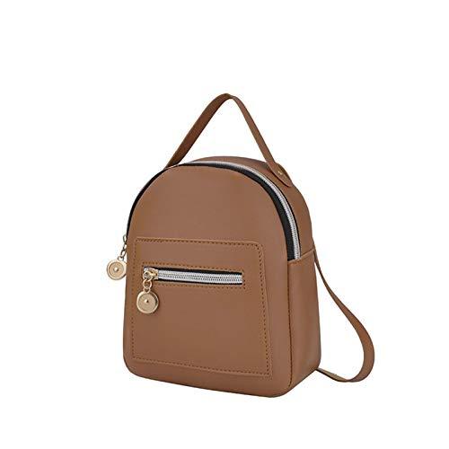 Women Little Backpack Ladies Fashion Leather PU Mini Rucksack Girls Lightweight Vintage Shopping Daypack With Strap Shoulder Matting Color Handbag For Travel Shopping Little Supplies Lip Sticks Makeup