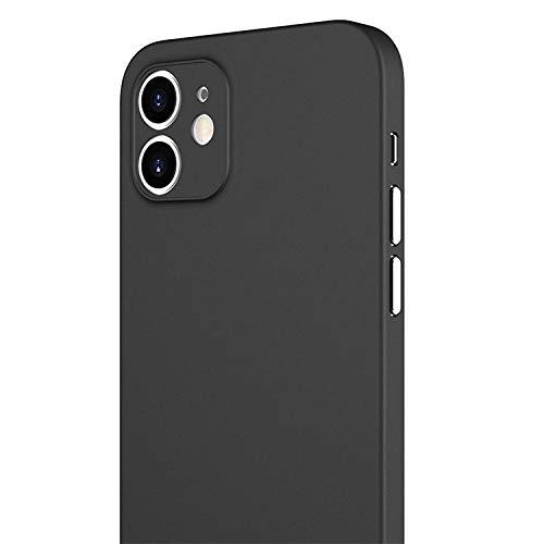 Schutzhülle für iPhone 12, italienisches Design, ultradünn, stoß- & fingerabdruckresistent, Schwarz