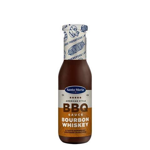 Santa Mar'a salsa de barbacoa Bourbon whisky para la Carne, pollo, camarones, 370 g