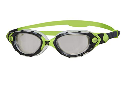 Zoggs Predator Flex Titanium Reactor - Occhialini da Nuoto, Colore: Nero/Verde