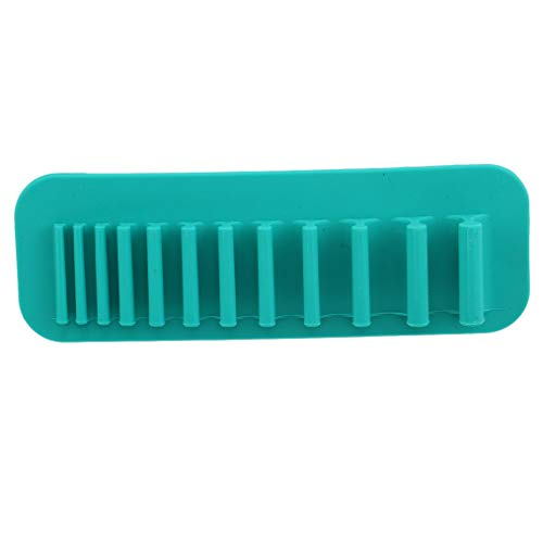 Cngstar 1 Pcs Maquillage Brosse Titulaire Silicone Cosmétique Brosse Organisateur Fard À Paupières Brosse Séchage Rack Beauté Cosmétique Outil,Bleu