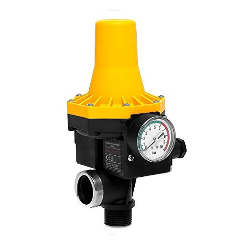 wolketon Druckschalter Elektronische Druckwächter Pumpensteuerung Gartenbewässerung mit Baranzeige, 10 bar automatisches EIN- und Ausschalten