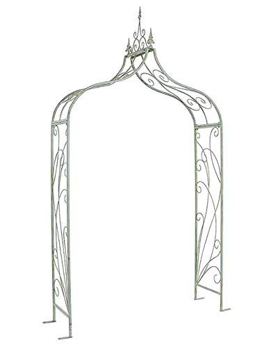 Arco decorativo de metal para jardín con extremos afilados, cenador para el hogar, ceremonias al aire libre, arcos de boda, decoración floral