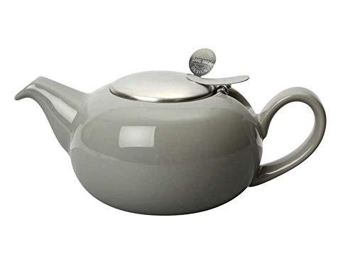 London Pottery Petite théière avec infuseur pour thé en Vrac, grès, Gris, 2 Tasses (500 ML)