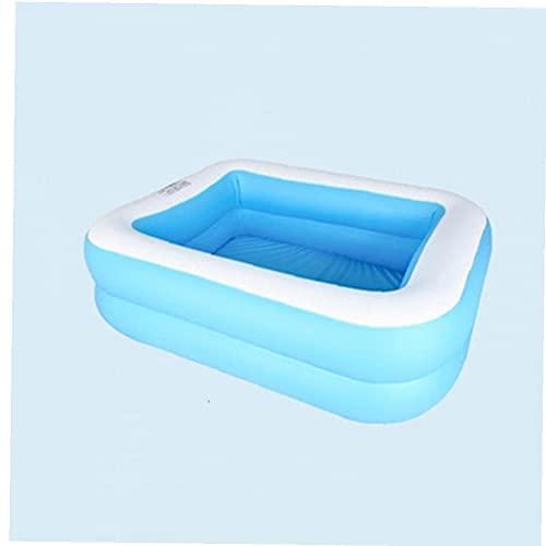 NIDONE 1 st Kids Volwassen Outdoor Achtertuin Zomer Ininflatable Pool Pvc Water Fun Ininflatable Pool (blauw en wit)
