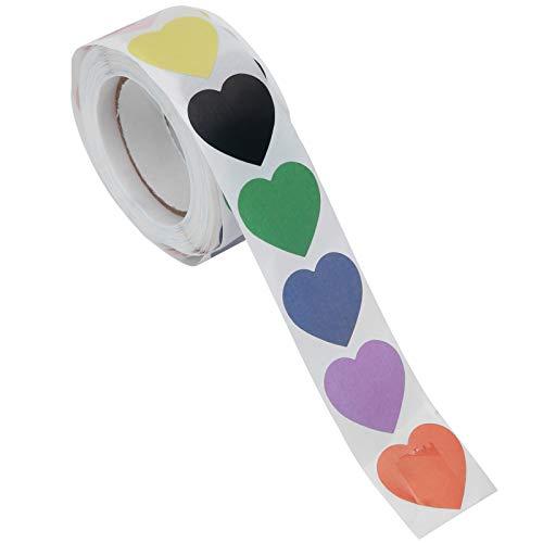 Wosune Etiqueta en Forma de corazón, patrón de corazón Hermoso y práctico Uso a Largo Plazo Adhesivo Fuerte y Resistente para el hogar