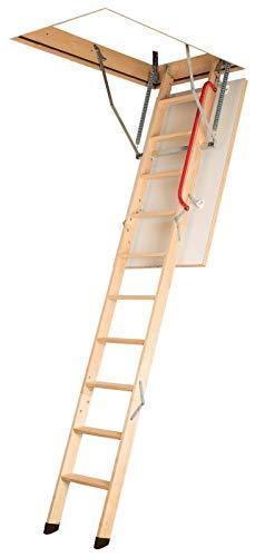 Gedämmte Bodentreppe, Holztreppe, Speichertreppe, Dachbodentreppe - Viele Größen und Modellen (LWK Komfort, 70 x 130 x 305 cm)