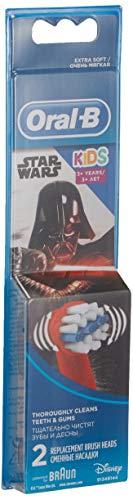 Oral-B Kids Brossettes De Rechange Star Wars x2, Enfants de 3 ans et plus, Recharge Originale Pour Brosse À Dents…
