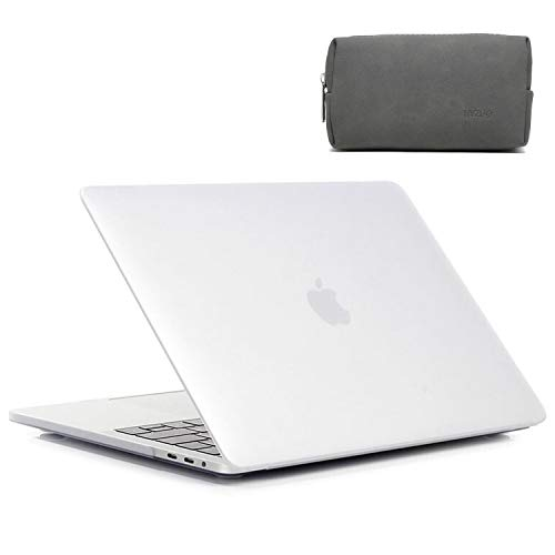 HYZUO 16 Inch Laptop Case Compatible with 2019 2020 Release Macbook Pro 16 A2141 Ultra Slim Plastic Smooth Matte Protective Hard Shell Case Cover for MacBook Pro 16 with Small Carry Bag, Frost Clear
