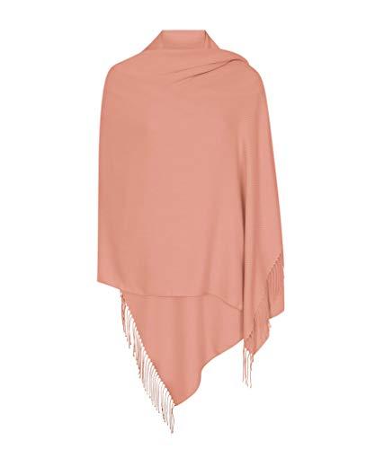 Pashminas & Wraps Dunkle Rosa Hergestellt in Italien (37 Schöne Farben Erhältlich) Pashmina Schal Stola Umschlagtücher Tuch für Damen - Super Weich - Exklusiv von Pashminas & Wraps aus London