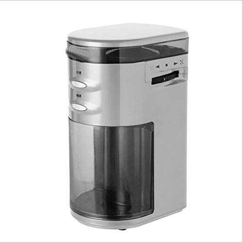 Best Buy! ZDFSKS Coffee Grinder Automatic One-Button Operation Anti-Skid Design Multi-Range Adjustment Suitable for Consumer and Commercial,White