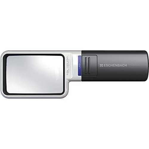 Eschenbach OPTIK Lupe Handlupe mit LED-Beleuchtung mobiluxLED 75x50mm, 15113, 3,5 x Vergrößerung, 75 x 50 mm