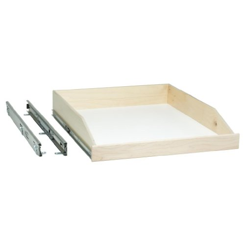 Slide-A-Shelf SAS-FE-L-M, Made-to-Fit Slide-Out Shelf, Full-Ext, 6 to 36 in. Wide, 16 1/2 to 24 in. deep, Ready-to-Finish Maple Fronts, Minimum Order is 2 Shelves, See Important INFO Below!
