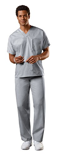 Cherokee Uniforms Authentic Workwear Unisex Scrub Set (Grey, M)