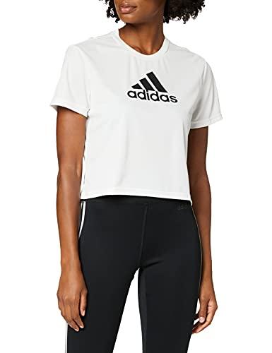 adidas GM7196 W BL Cro T T-Shirt Donna White/Black M