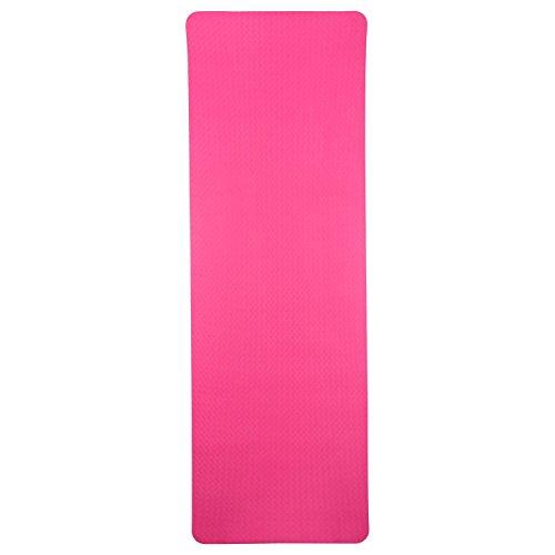 silly.con Fit & Fun 14014 - Fitness- und Yogamatte, zweifarbig, pink / rosa, aus TPE - Material, ca. 173 x 61 x 0,6 cm
