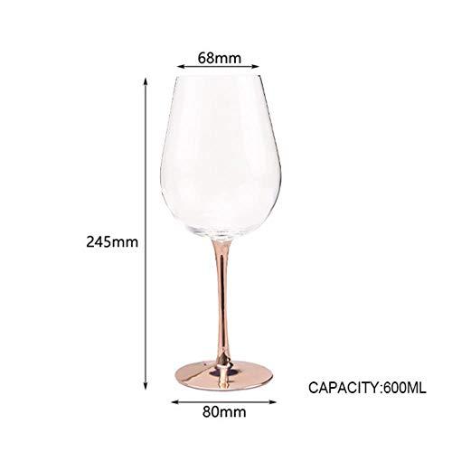Kristallen Goblets Wijn Glas Elektroplaat Rose Goud Loodvrije Goblet Sap Cocktail Drink Champagne Goblet Party Barware Groot rood wijnglas