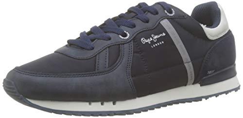 Pepe Jeans London Tinker Zero 19, Zapatillas para Hombre, Navy 595, 44 EU