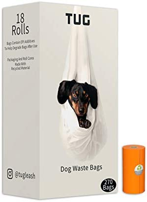 TUG Dog Waste Bags 18 Rolls 270 Bags Strong Leak Proof Dog Poop Bags 15 Bags Per Roll Each Bag product image
